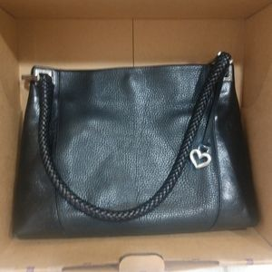 Brighton black leather bag with original box
